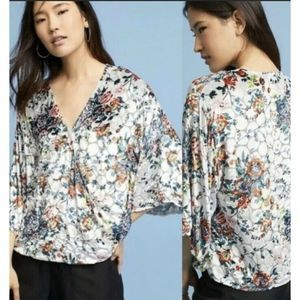Anthropologie Maeve Umi Wrap Top Size S